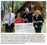 Jupp´ s Erlebnisgarten spendet 1.023,50 Euro, Lokallust Haltern im April 2018