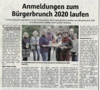 Anmeldungen zum Burgerbrunch 2020 laufen - Halterner Zeitung im November 2019