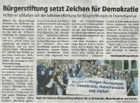 Bürgerstiftung setzt Zeichen für Demokratie - Halterner Zeitung im April 2019