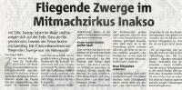 Fliegende Zwerge im Mitmachzirkus (Halterner Zeitung im November 2019)