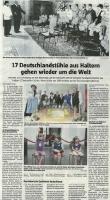 Deutschlandstühle - Halterner Zeitung im Oktober 2020