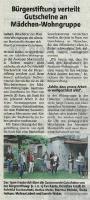 Gutscheine Mädchen Gruppe - Halterner Zeitung im Juni 2020 -