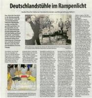 Deutschlandstühle - Stadtspiegel im Oktober 2020